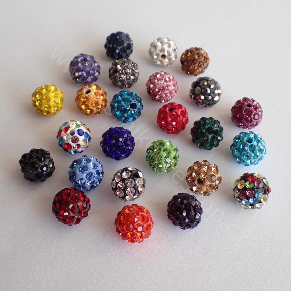 Barevné kuličky s kamínky - Černá