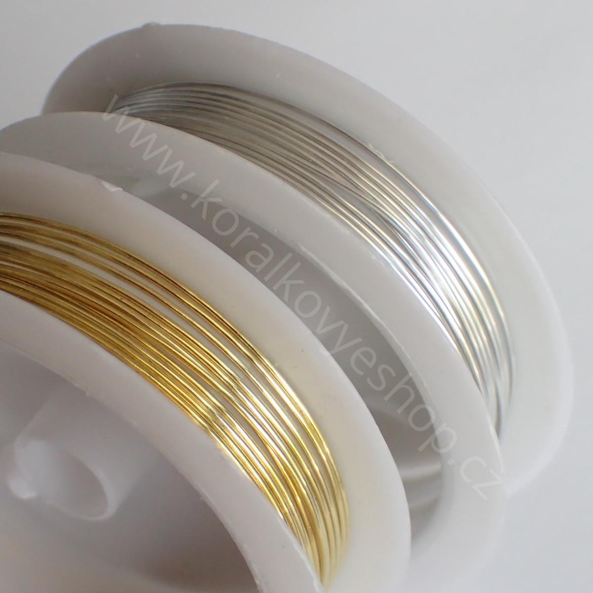 Drát - 0,8 mm - Stříbrná