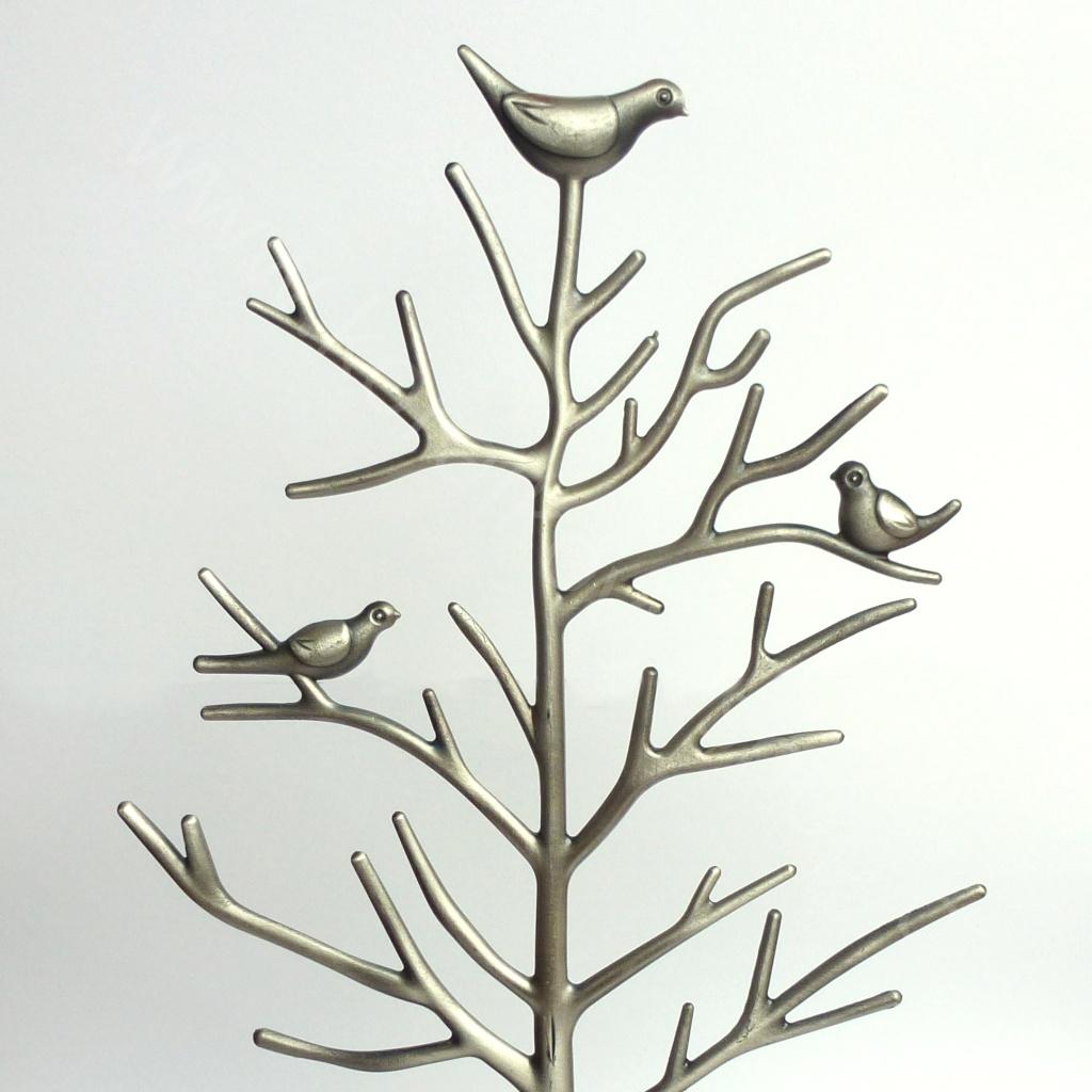Stojánek na šperky - kovový - strom