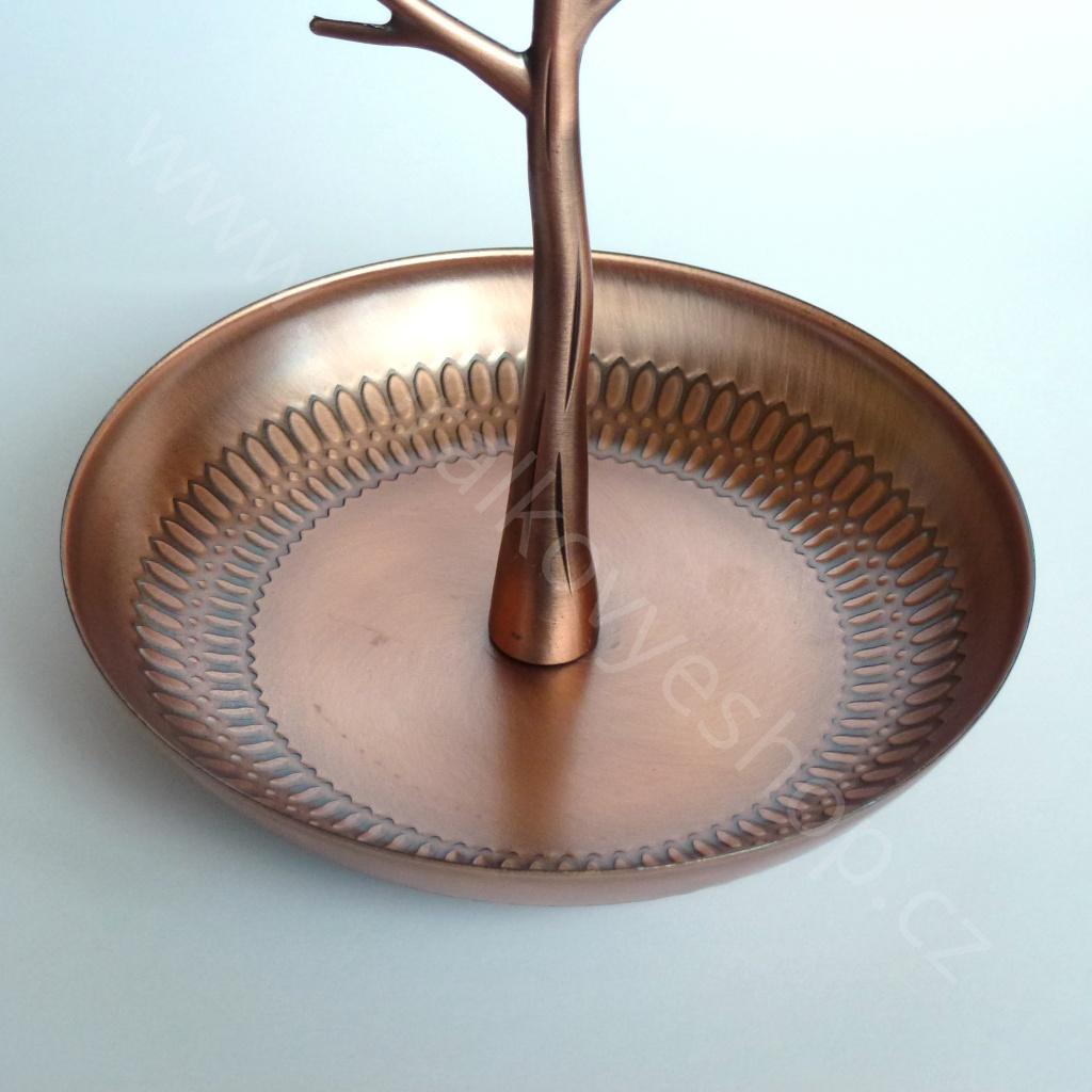 9d5dbf7be Stojánek na šperky - kovový strom - bronzová | Korálkový eshop