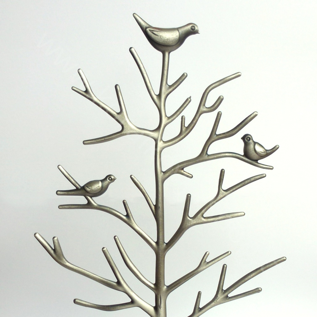 Stojánek na šperky - stříbrná - výprodej