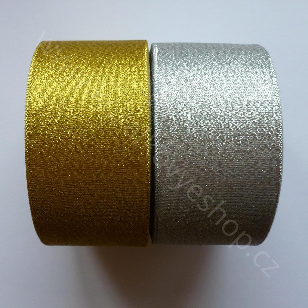 Stuha slavnostní - 50 mm - Zlatá