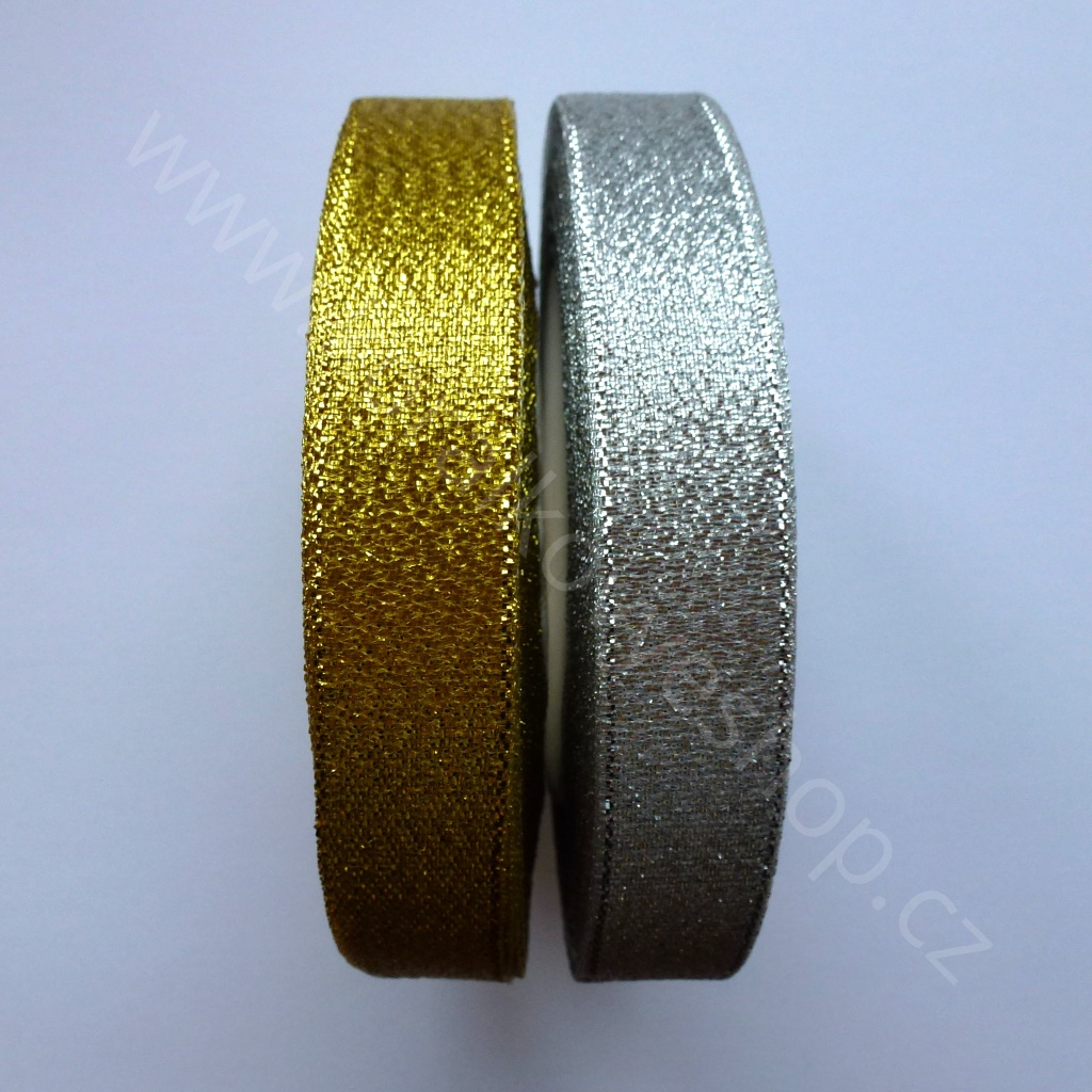 Stuha slavnostní - 15 mm - Zlatá