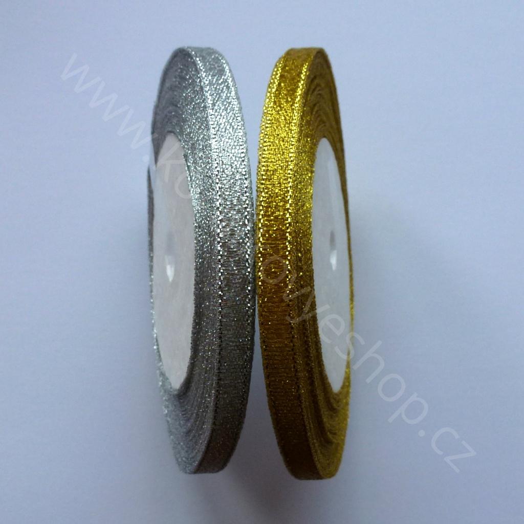 Stuha slavnostní - 6 mm - Zlatá