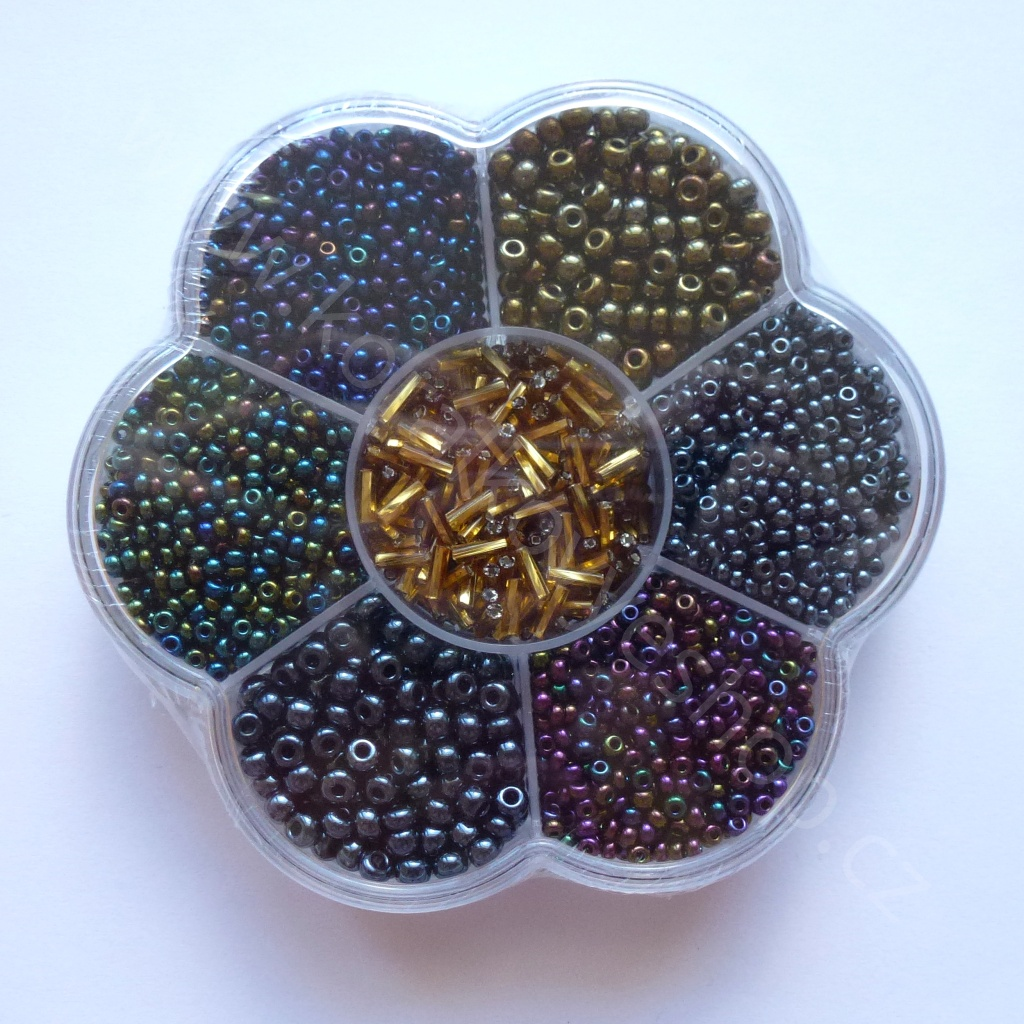 Kytička - fialovo-zlatá