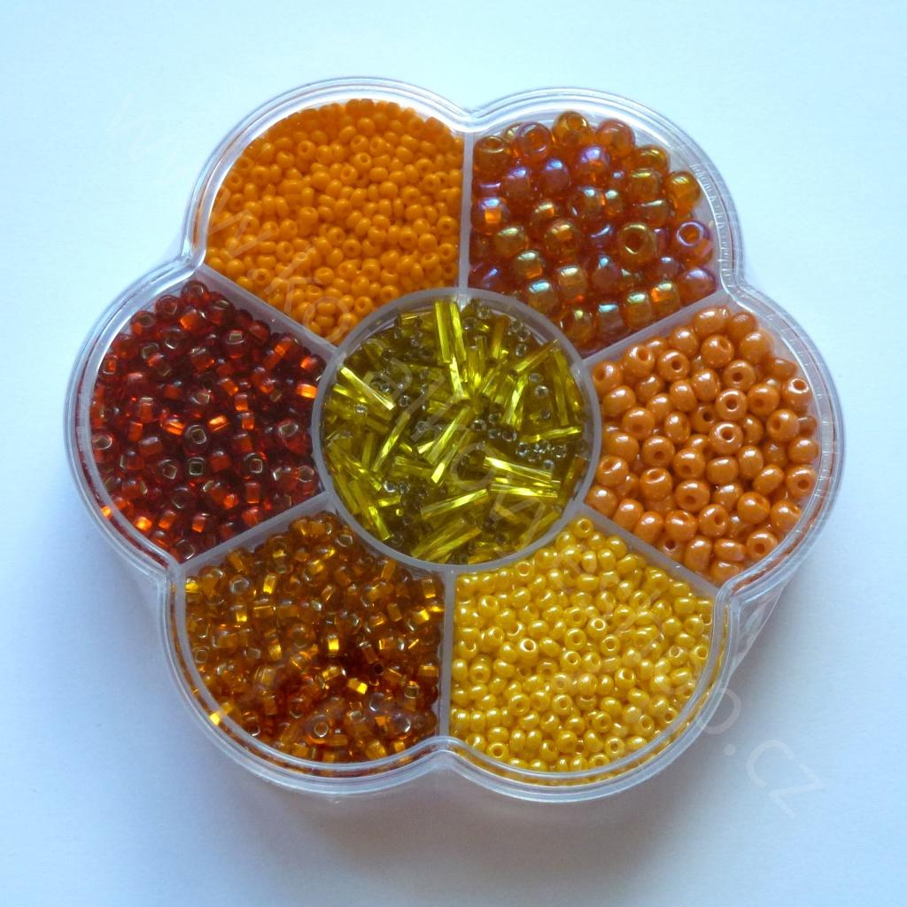 Kytička - oranžovo-zlatá