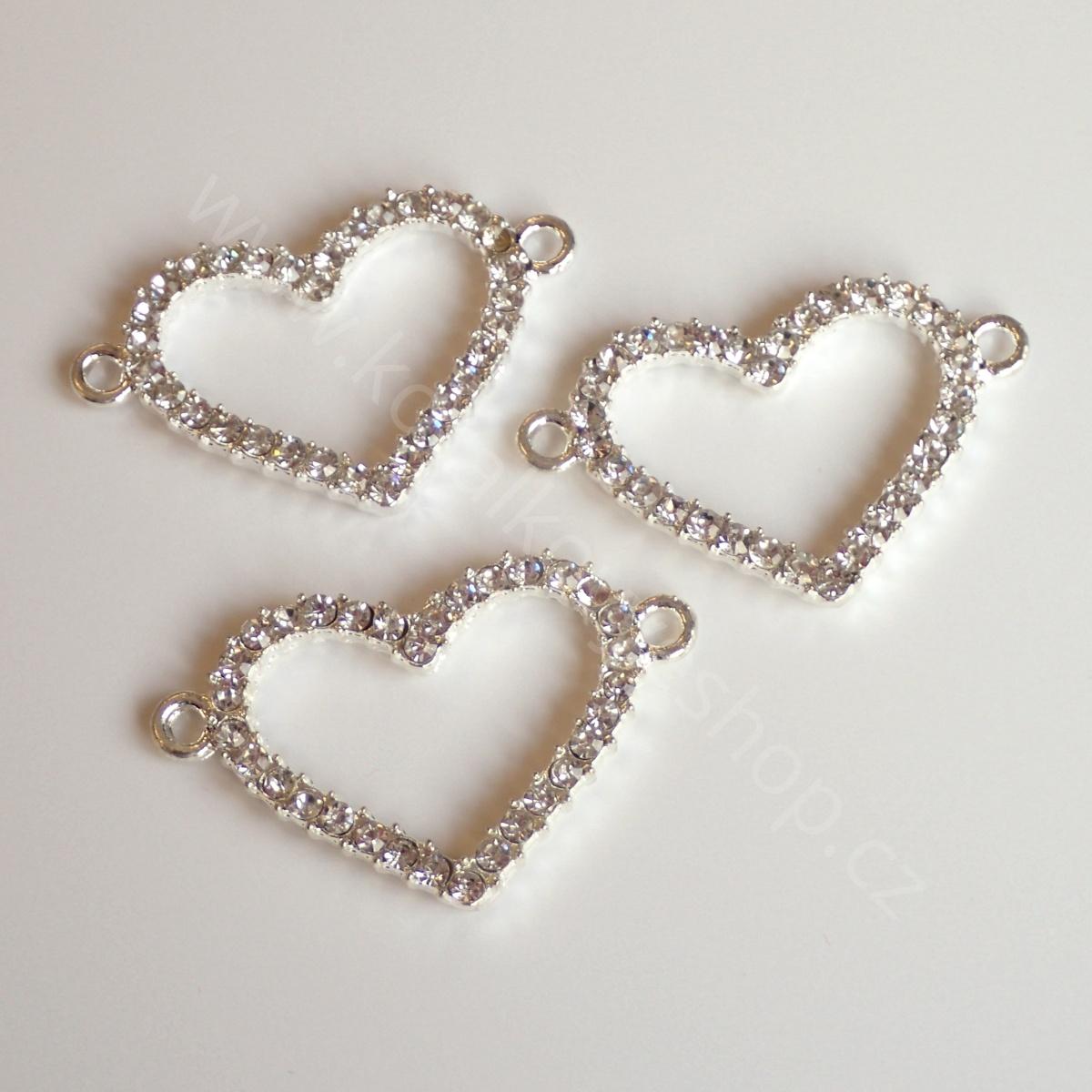 Srdce s kamínky a kroužky